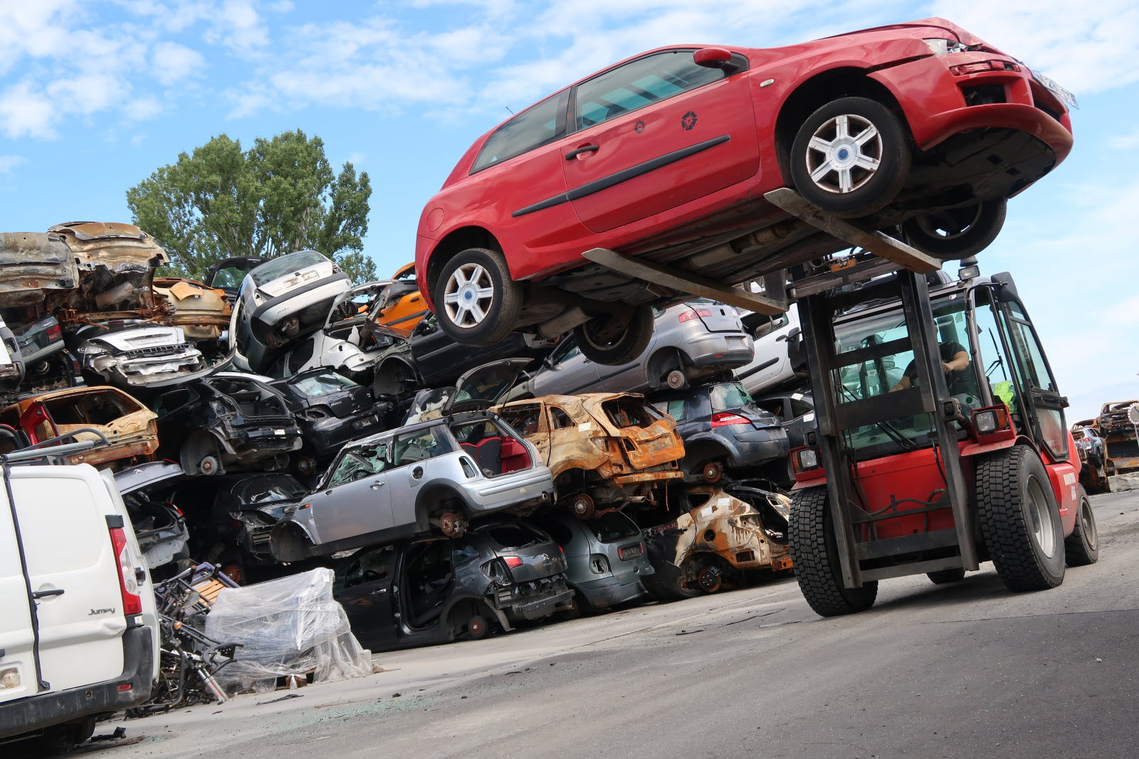 Cession d'un véhicule destiné à la casse